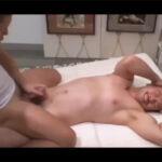 【ゲイ動画】イカニモフェイスな坊主頭の兄貴がエロマッサージをされて兜合わせや69…果てはアナルファックにまでハッテンしてしまう!