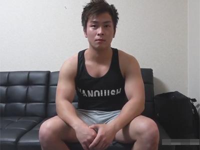 【ゲイ動画】稼ぎたいから顔出しする!ガチムチでプリケツの筋肉体育会が意を決して顔を出してエロいセックスで掘られ倒す!