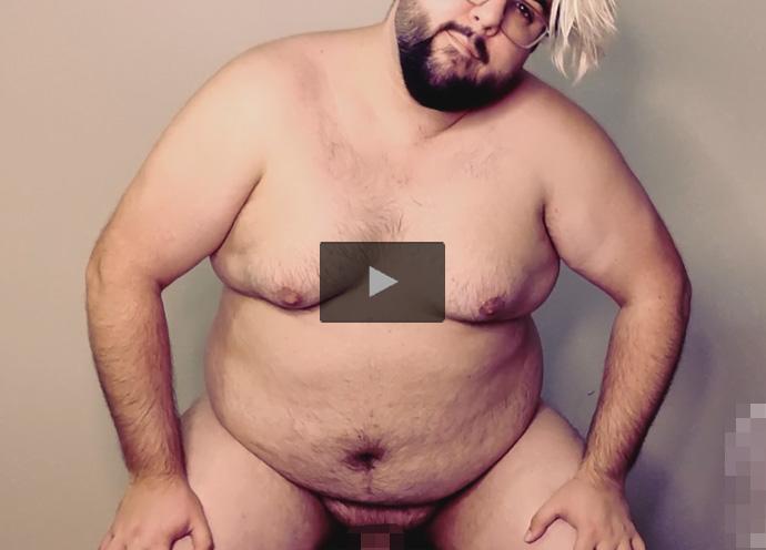 【外人ゲイ動画】ガチポで包茎のイカニモ系ピザデブ外人が素っ裸で肛門にディルドを挿れてアナニーを楽しんでから手淫で射精する!